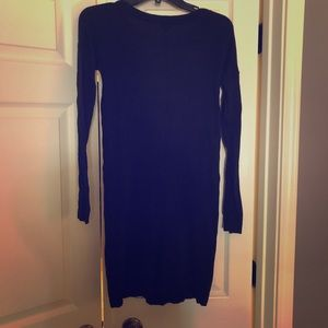 Express black sweater dress XS